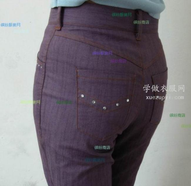 为什么很多裤子特别是牛仔裤后腰的裁剪都破开再拼接缝起来?
