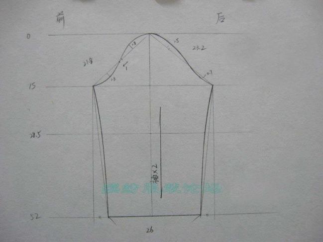 初级19:学画一片袖的裁剪图