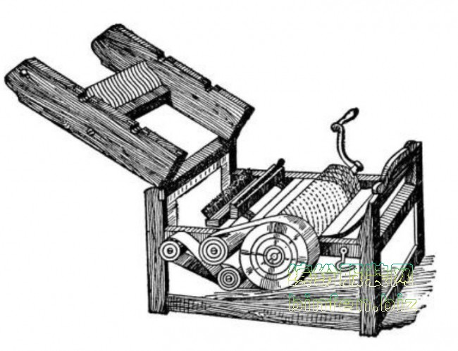 轧棉机使手工去棉花籽过渡到棉布现代化生产