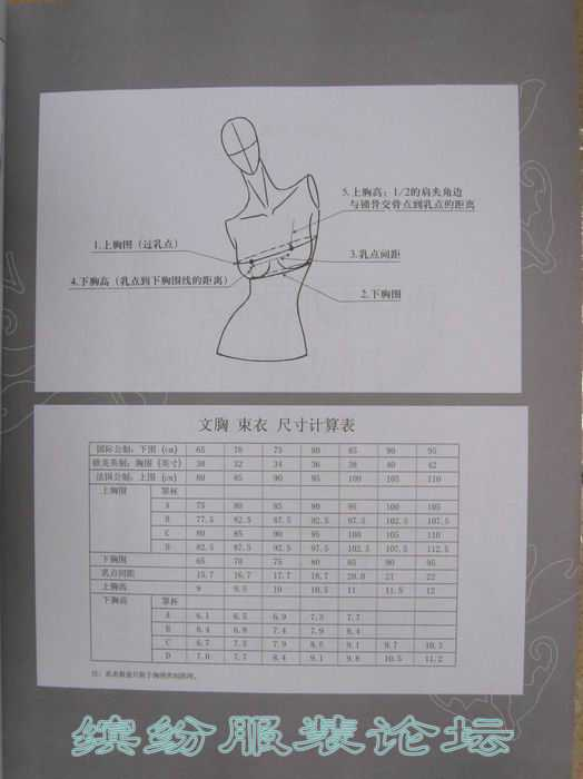 女性内衣设计制图技法