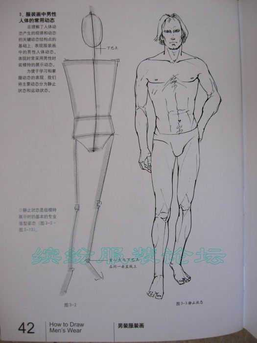 男装服装画