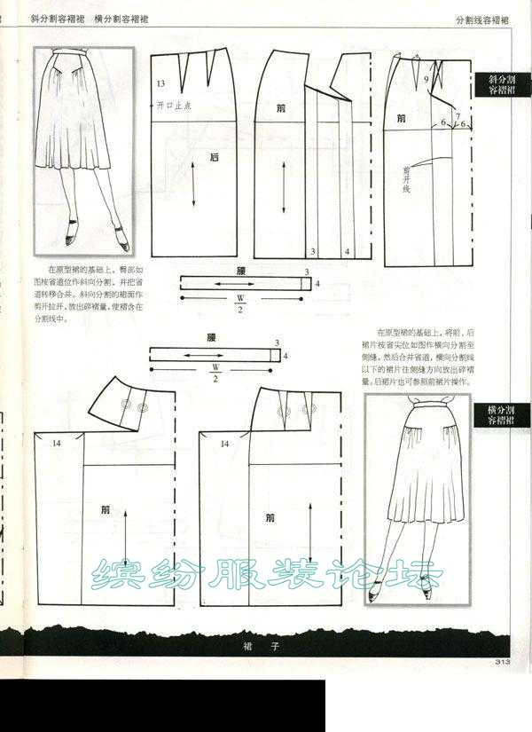 裙子裁剪图