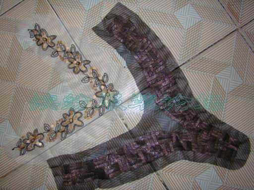 碎布市场找的一些装饰辅料不会用,领花怎么装?