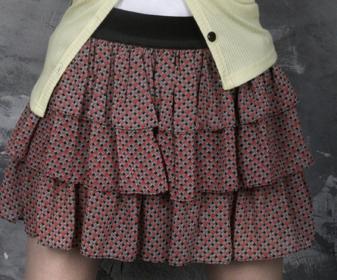 请教蛋糕裙的三层布料裁成形状一样长宽吗?