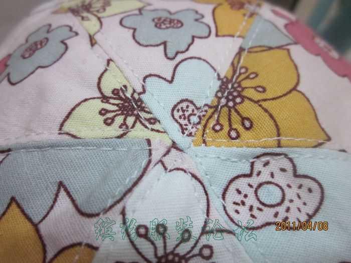 女宝宝六片太阳帽(附裁剪图)、小背包