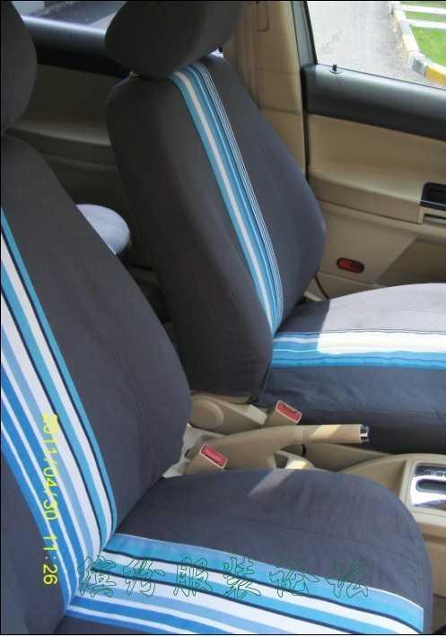 第一次做汽车座套,用了6米帆布