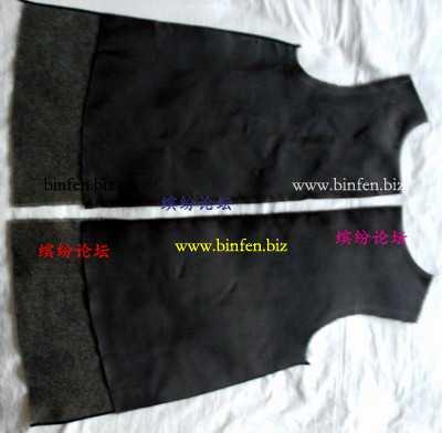 介绍一款裙式马甲的缝制方法