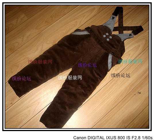 解手方便的儿童背带棉裤(活胆 棉裤里、面料能经常洗涤)