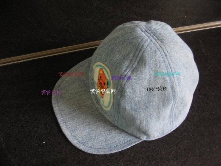 旧牛仔裤改做的小牛仔帽(有制作过程)