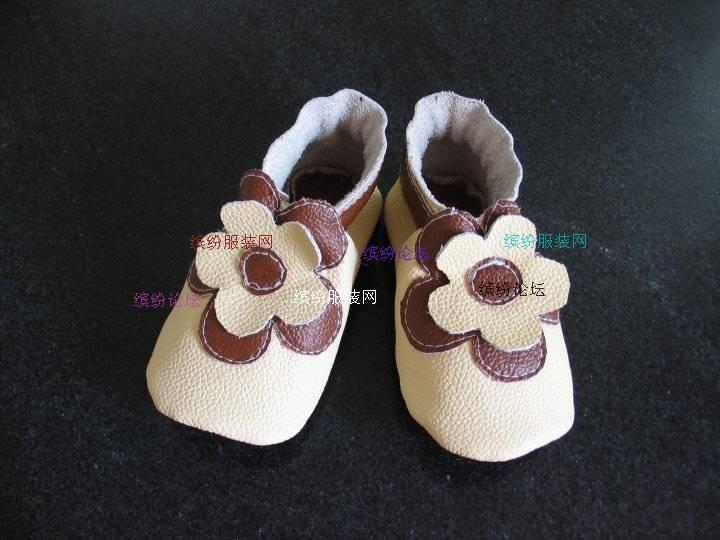 自制漂亮的宝宝牛皮软底鞋(有制作过程)