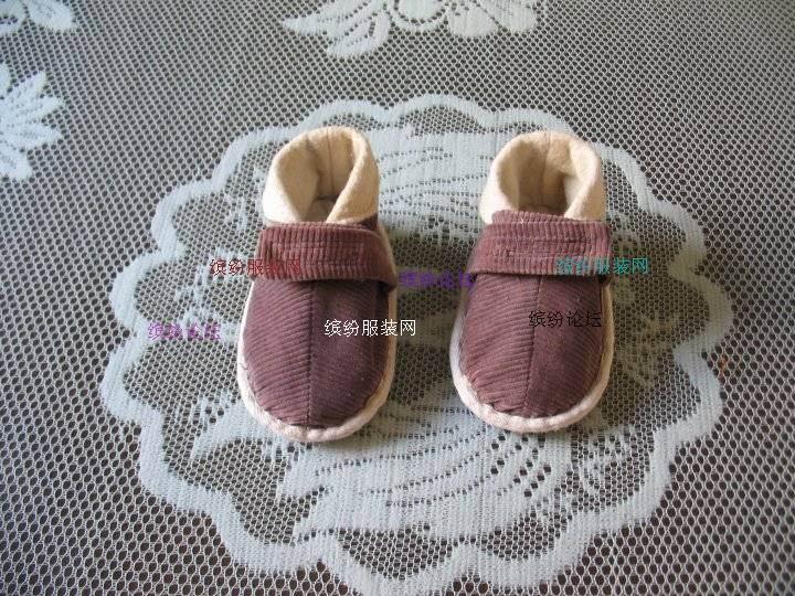 我给孙宝宝做的小春鞋
