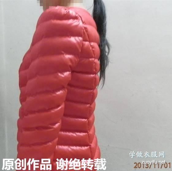 新做女短装手充棉衣