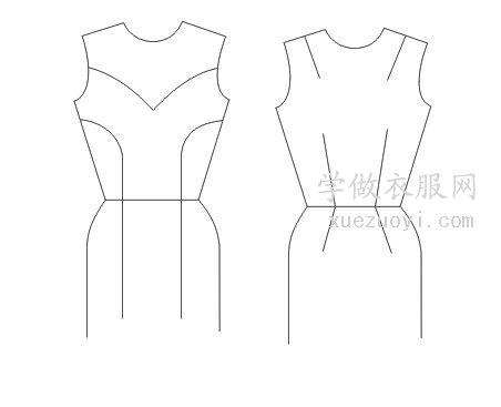 服装裁剪打版时可做的各种收省,胸腰肩肘腋下省