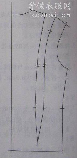 服装裁剪图应用的各种省的形状:菱形/V字/弧形/胖瘦省