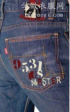 牛仔服装上可做的DIY缝纫装饰工艺设计制作