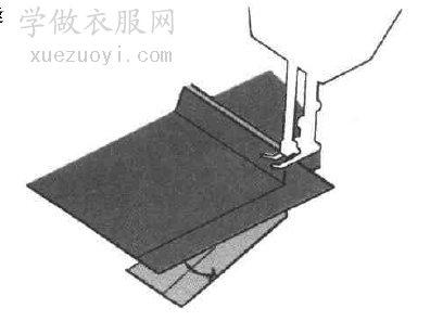 长方矩形的转角裁片很难缝纫,拼车要讲究技巧