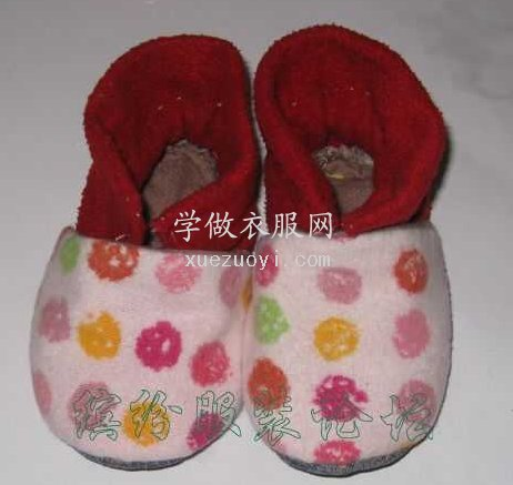 自己做宝宝鞋子的方法步骤