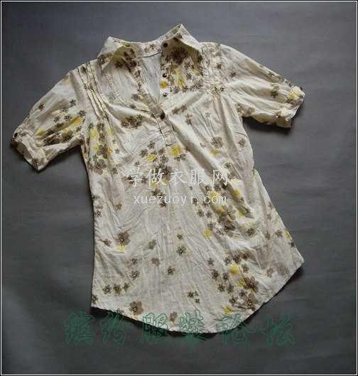 衬衫的圆下摆折边容易起皱,怎么车才平顺服贴?