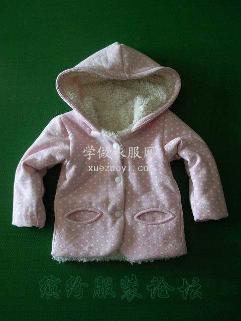 最近给宝宝的几件连帽冬衣,羊羔绒毛毛布做里子
