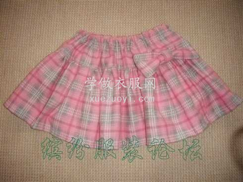 花2元淘来的布头给女儿做360度太阳裙子