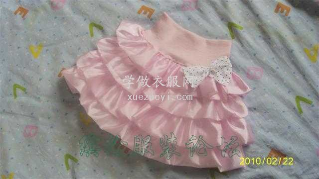 看看我为宝宝做得粉嫩小蛋糕裙