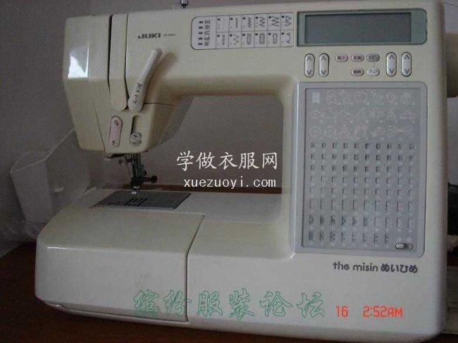 二手日本原装家用缝纫机JUKI AT 1800-50 总断面线