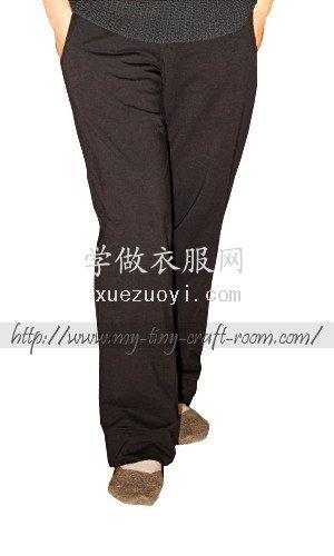自己做的Burda简单运动裤