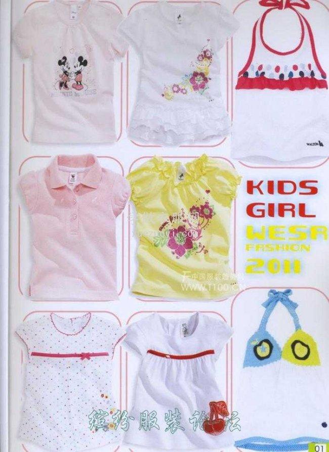 发几张漂亮的女童T恤图片