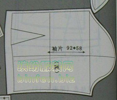 服装纸样上的经纱线/布纹方向线