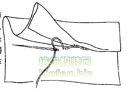 手缝工艺有哪些常用的针法-纳布、暗缝、锁针