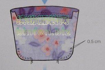 童装抽松紧带皱褶的贴口袋缝纫制作方法